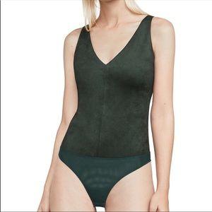BCBGMaxAzria Tops - MYA Suede Bodysuit